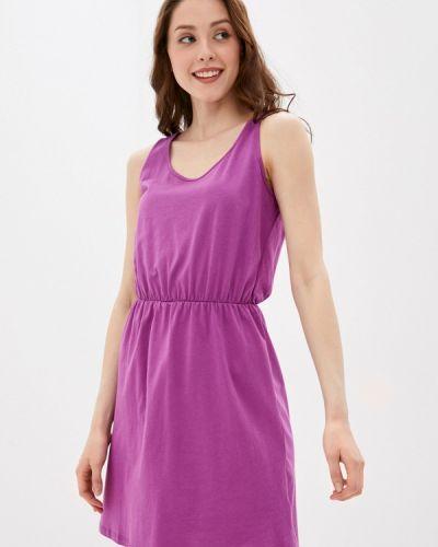 Фиолетовое прямое платье А-силуэта Defacto