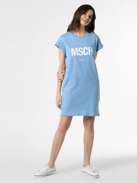 Niebieska sukienka z printem Moss Copenhagen