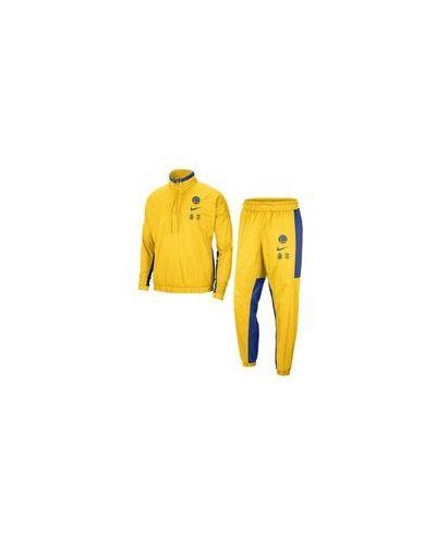 Желтый костюмный спортивный костюм с подкладкой Nike