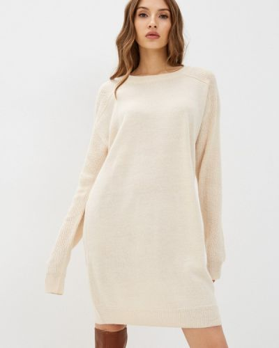 Вязаное платье - бежевое Ichi