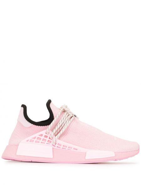 Czarne sneakersy płaska podeszwa sznurowane Adidas By Pharrell Williams