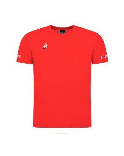 Czerwona koszulka krótki rękaw Le Coq Sportif