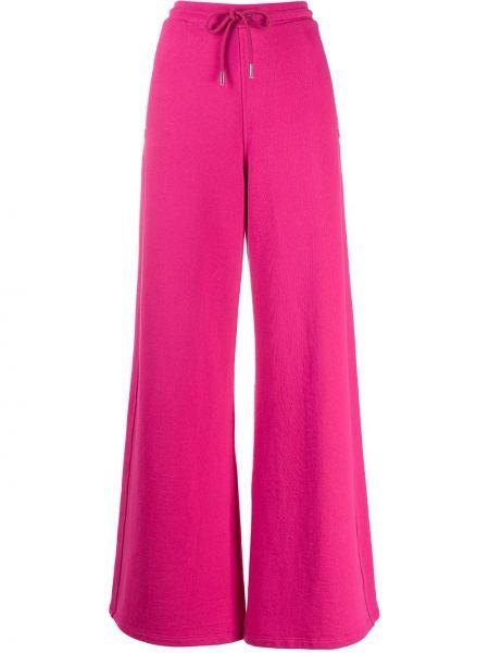 Расклешенные розовые спортивные брюки с карманами на молнии Opening Ceremony
