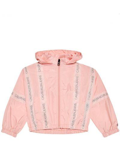 Różowa kurtka jeansowa z siateczką Calvin Klein Jeans