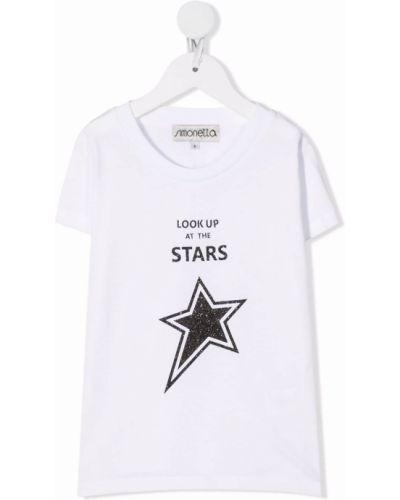 Biała t-shirt krótki rękaw Simonetta