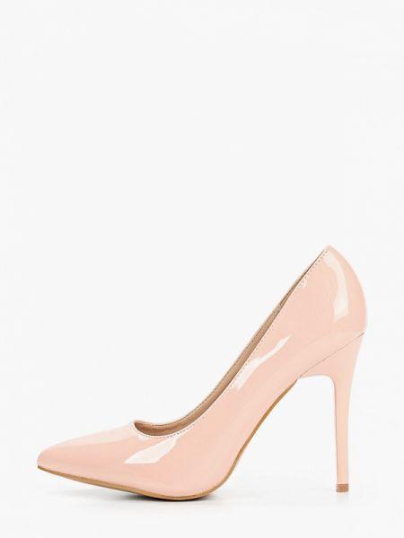 Кожаные лаковые розовые кожаные туфли Bellamica