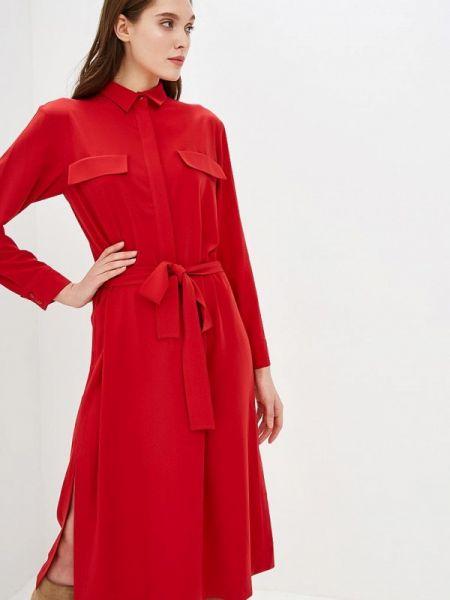 Платье платье-рубашка красный Villagi