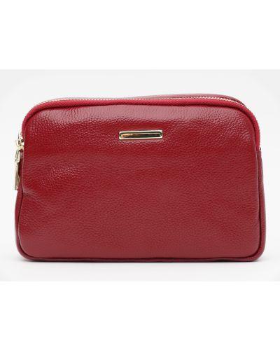 Кожаная сумка через плечо - красная Laras