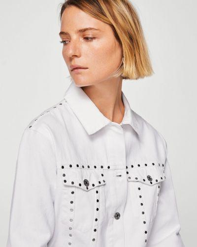 Джинсовая куртка в клетку на пуговицах Mango