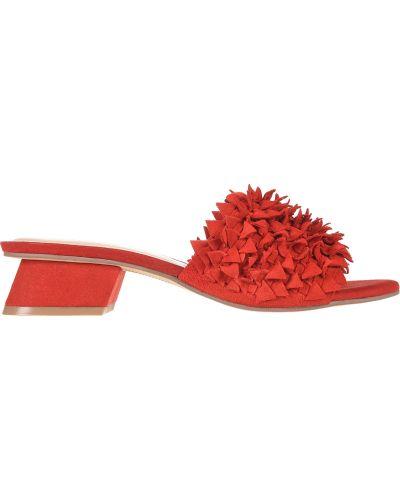 Кожаные мюли - красные Bruno Premi