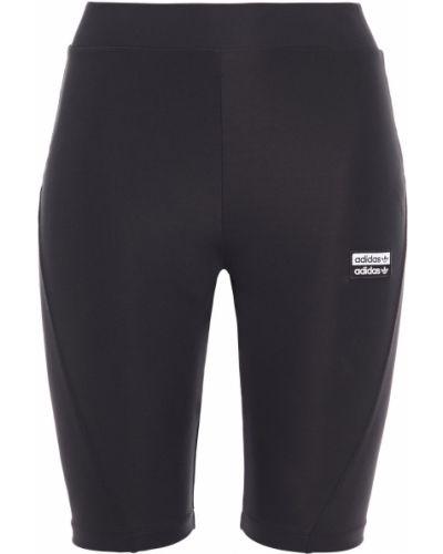 Текстильные теплые черные шорты Adidas Originals