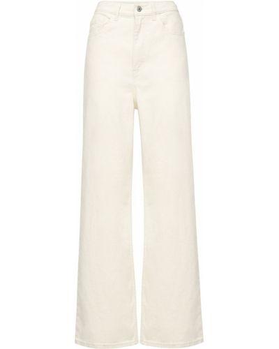 Широкие джинсы с завышенной талией - белые Levi's Red Tab