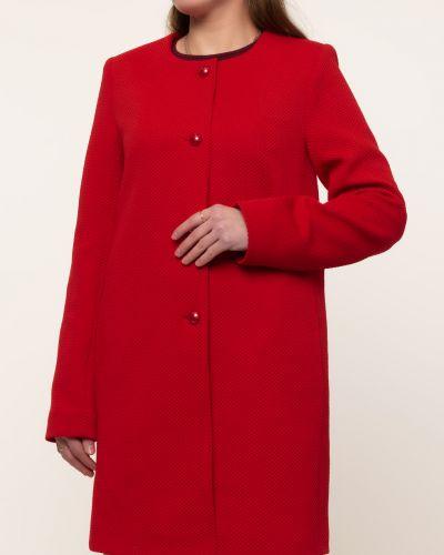 Прямое пальто - красное Serge Leoni