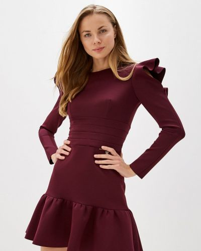 Вечернее платье осеннее фиолетовый Love Republic