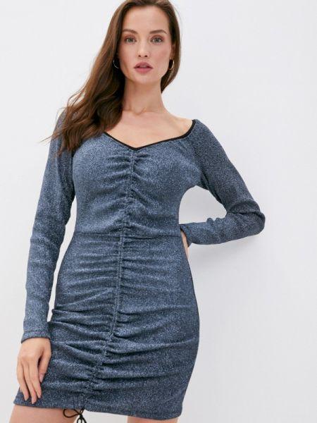 Вечернее серебряное вечернее платье Laroom