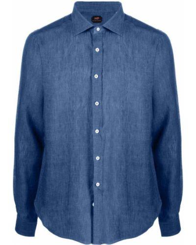 Niebieska koszula z długimi rękawami Mp Massimo Piombo
