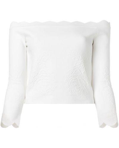 Блузка с открытыми плечами спущенная из вискозы Alexander Mcqueen