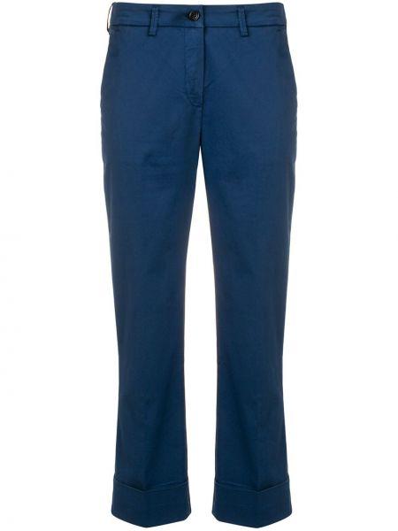 Укороченные брюки синие Fay