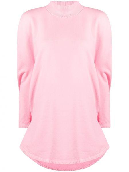 Różowy top z długimi rękawami bawełniany Mm6 Maison Margiela