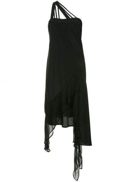 Шелковое черное платье без рукавов Taylor