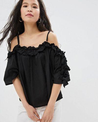 Блузка с открытыми плечами черная Care Of You