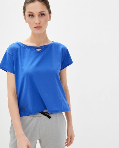 Спортивная футболка - синяя Mizuno