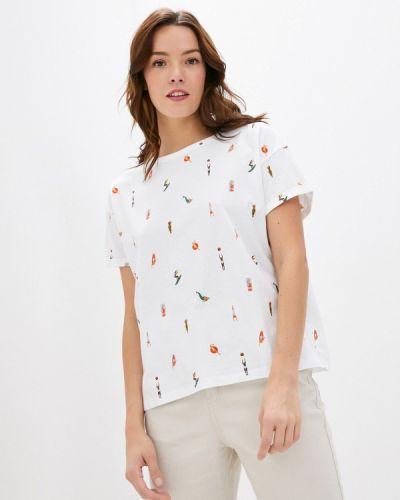 С рукавами белая футболка Sela
