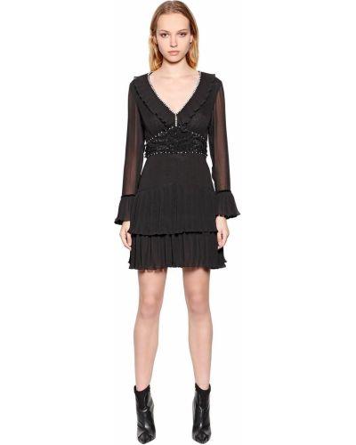 Платье с поясом с V-образным вырезом на молнии Just Cavalli