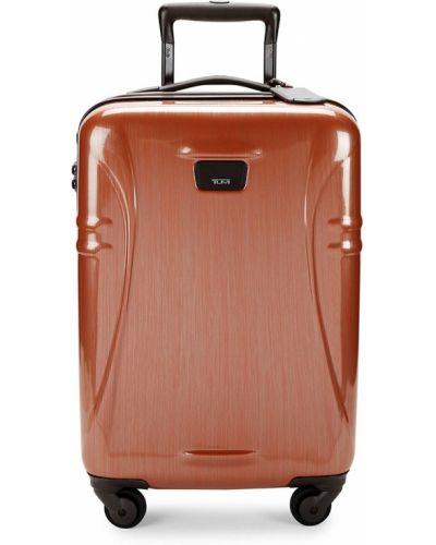 Оранжевый нейлоновый чемодан Tumi