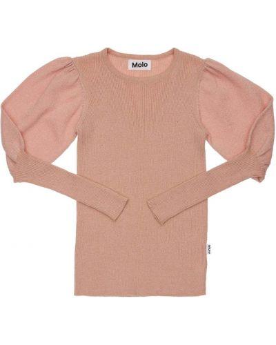 Хлопковый свитер - розовый Molo