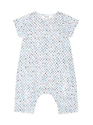 Теплое платье с принтом мягкое Bonpoint