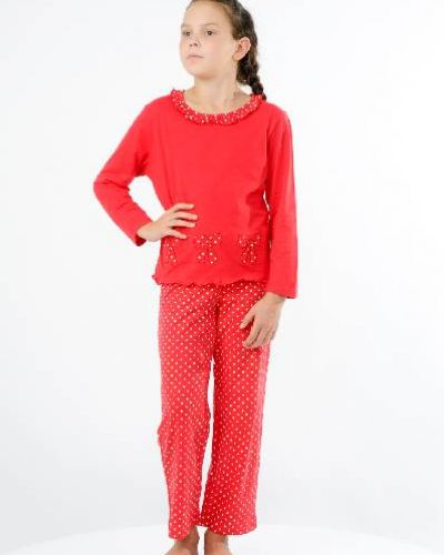 Пижама со штанами - красная Lowry