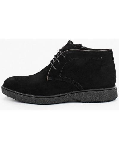 Велюровые черные ботинки El'rosso