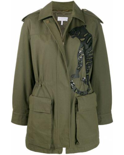 Длинное пальто - зеленое Escada Sport