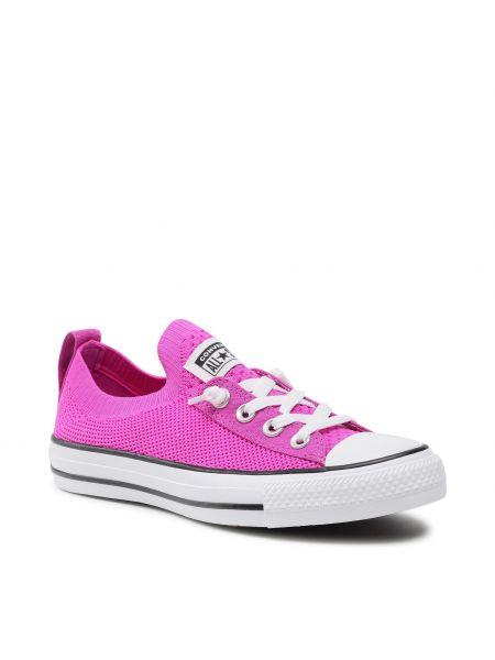 Białe slipy Converse