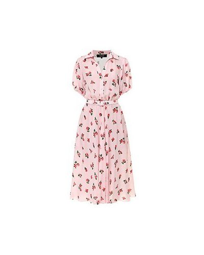 Платье из вискозы - розовое Poustovit