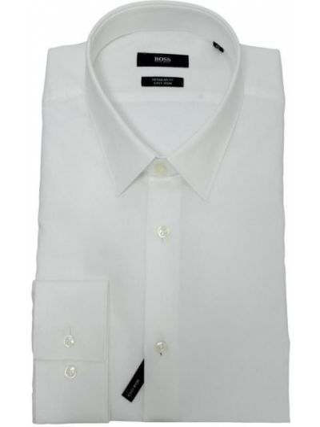 Biała koszula bawełniana Hugo Boss