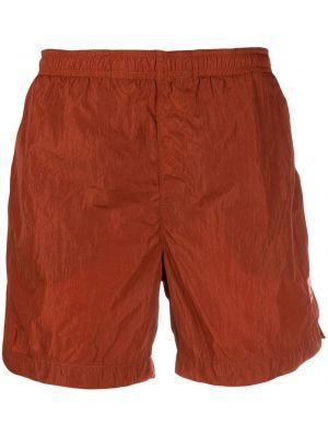 Оранжевые пляжные плавки-боксеры с поясом C.p. Company