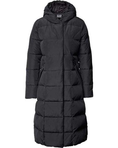 Czarny płaszcz pikowany Ea7 Emporio Armani