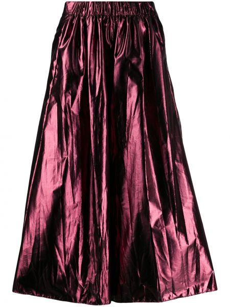Розовые укороченные брюки с карманами свободного кроя Forte Forte