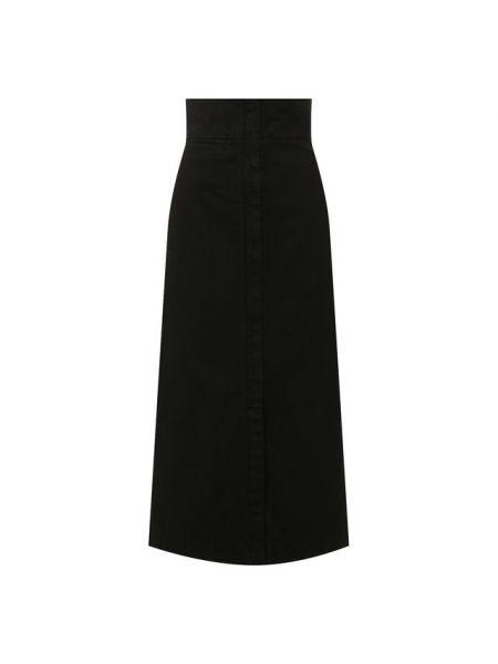 Джинсовая юбка на молнии с вырезом Lemaire