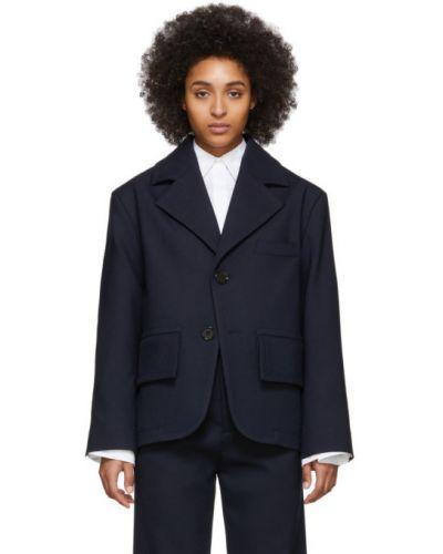 Пиджак черный в полоску Mm6 Maison Margiela