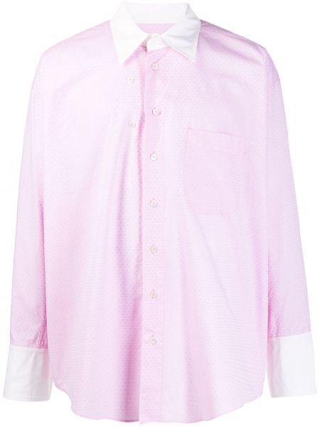 Koszula z długim rękawem karmazynowy wyposażone Magliano