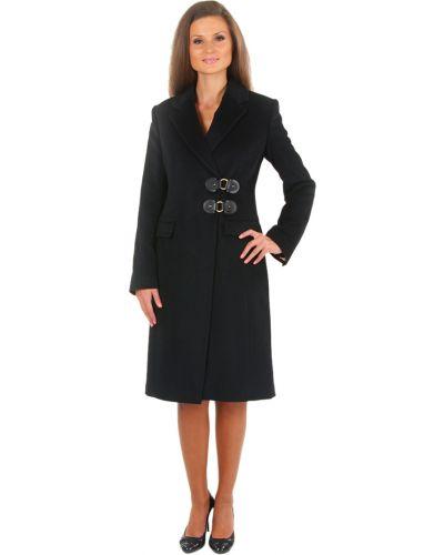Шерстяное черное пальто с капюшоном Perspective