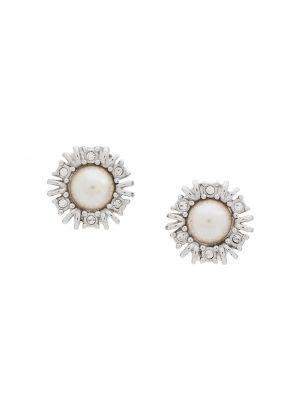 Клипсы - серебряные Christian Dior Pre-owned