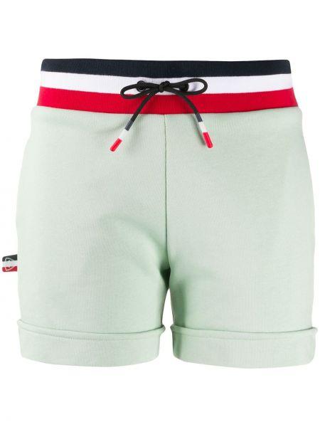 Хлопковые зеленые спортивные шорты с карманами с заплатками Rossignol