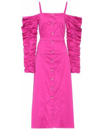 Хлопковое платье - розовое Anna October