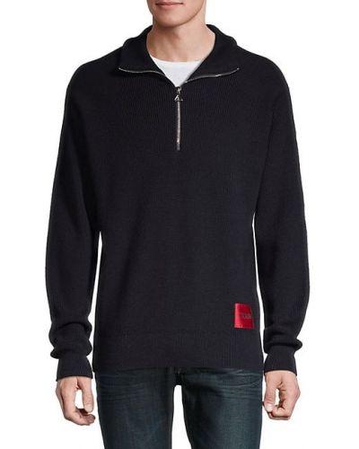 Długi sweter wełniany z długimi rękawami Hugo Hugo Boss