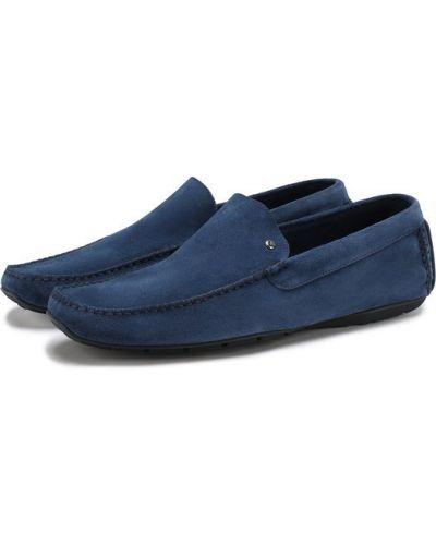 Мокасины замшевые синий Aldo Brue