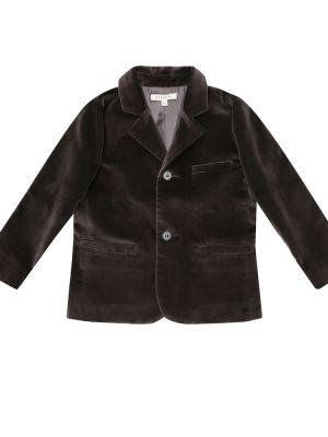 Коричневый ватный хлопковый пиджак Caramel